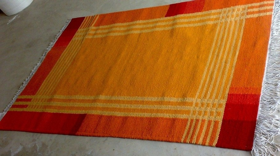 Hand woven dhurries